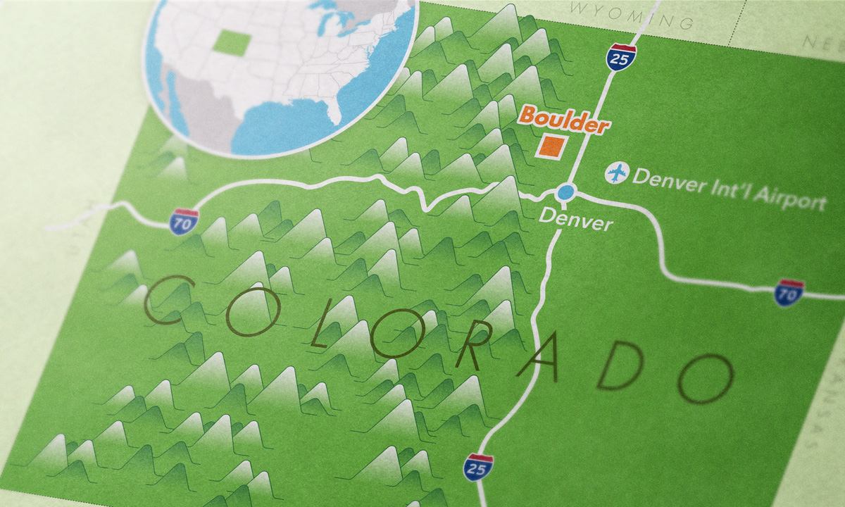 Colorado map close-up