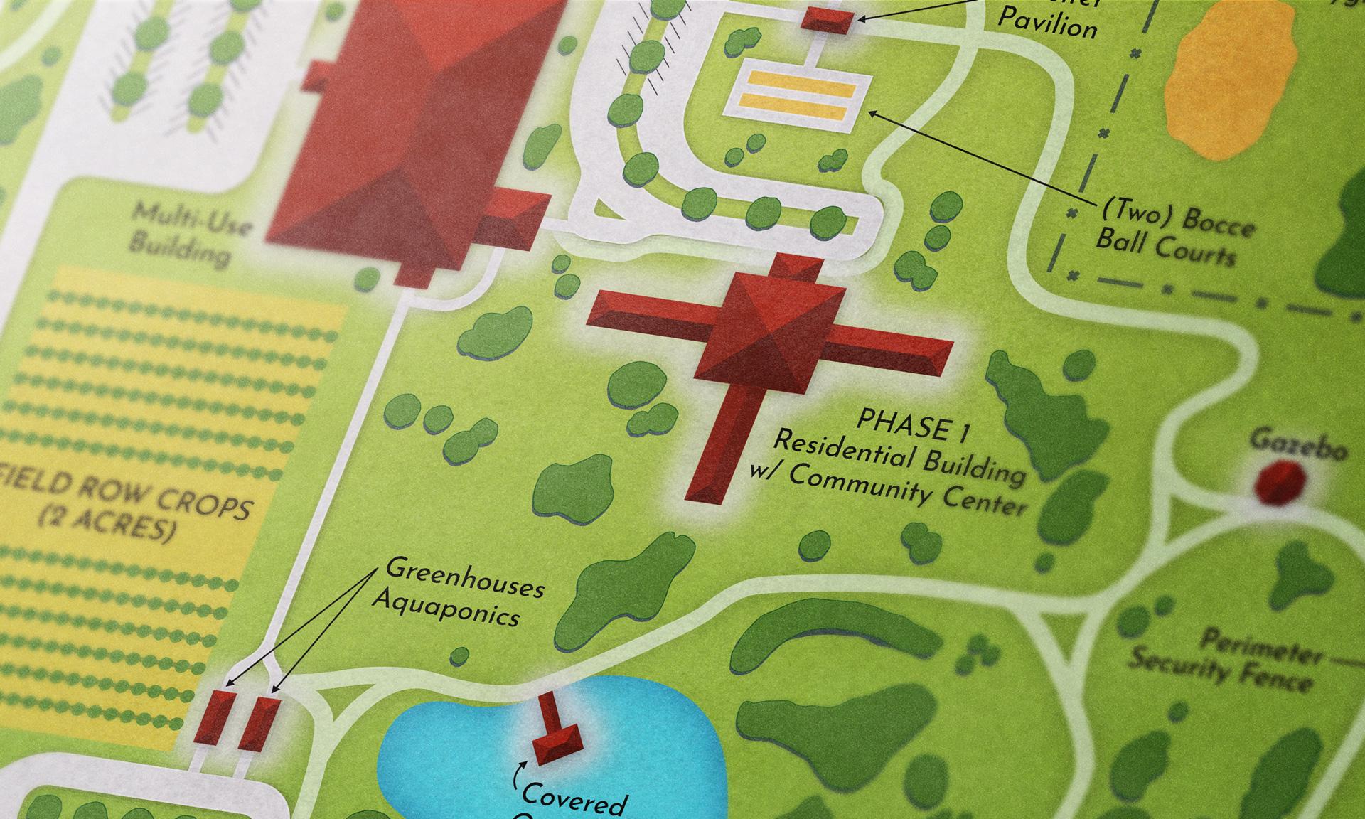 Contry Breeze Farm map close-up