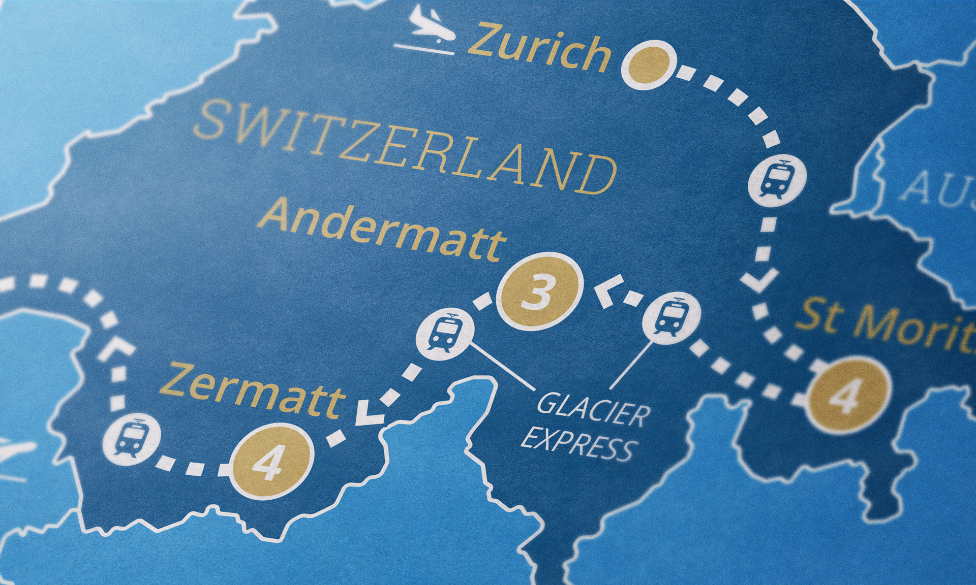 Switzerland map close-up
