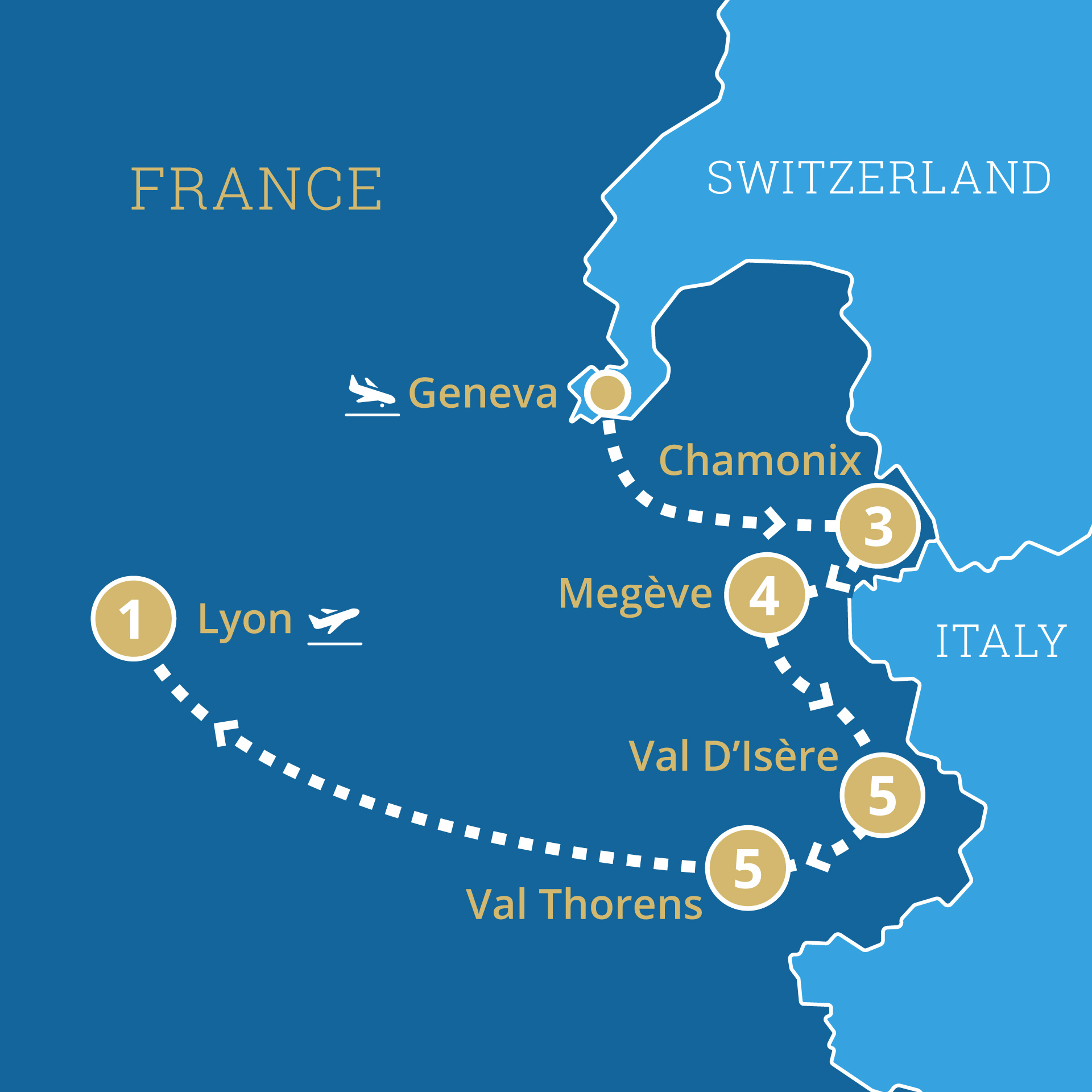 Itinerary in France