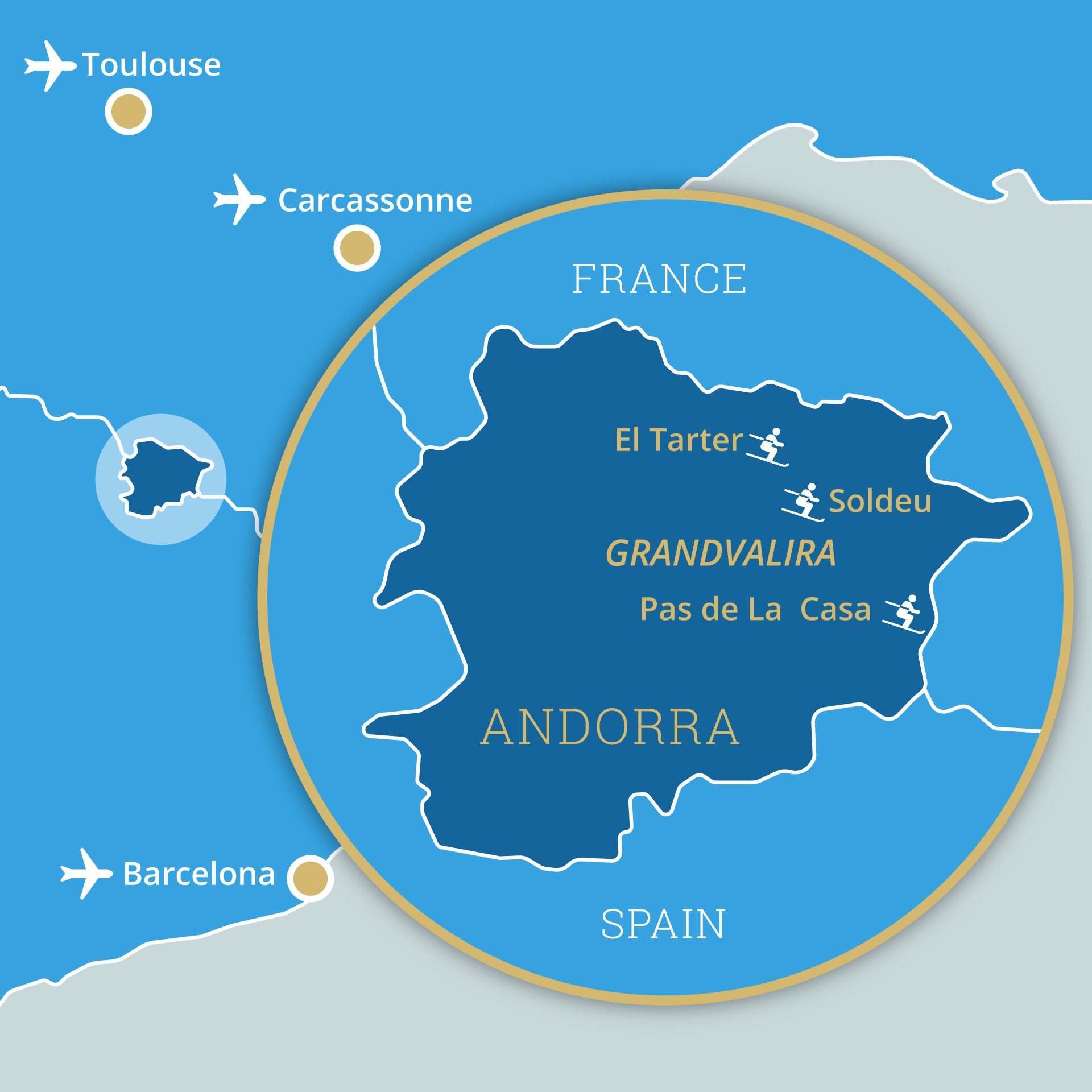 Map of Andorra ski resorts
