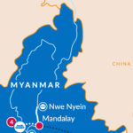 Myanmar itinerary map preview