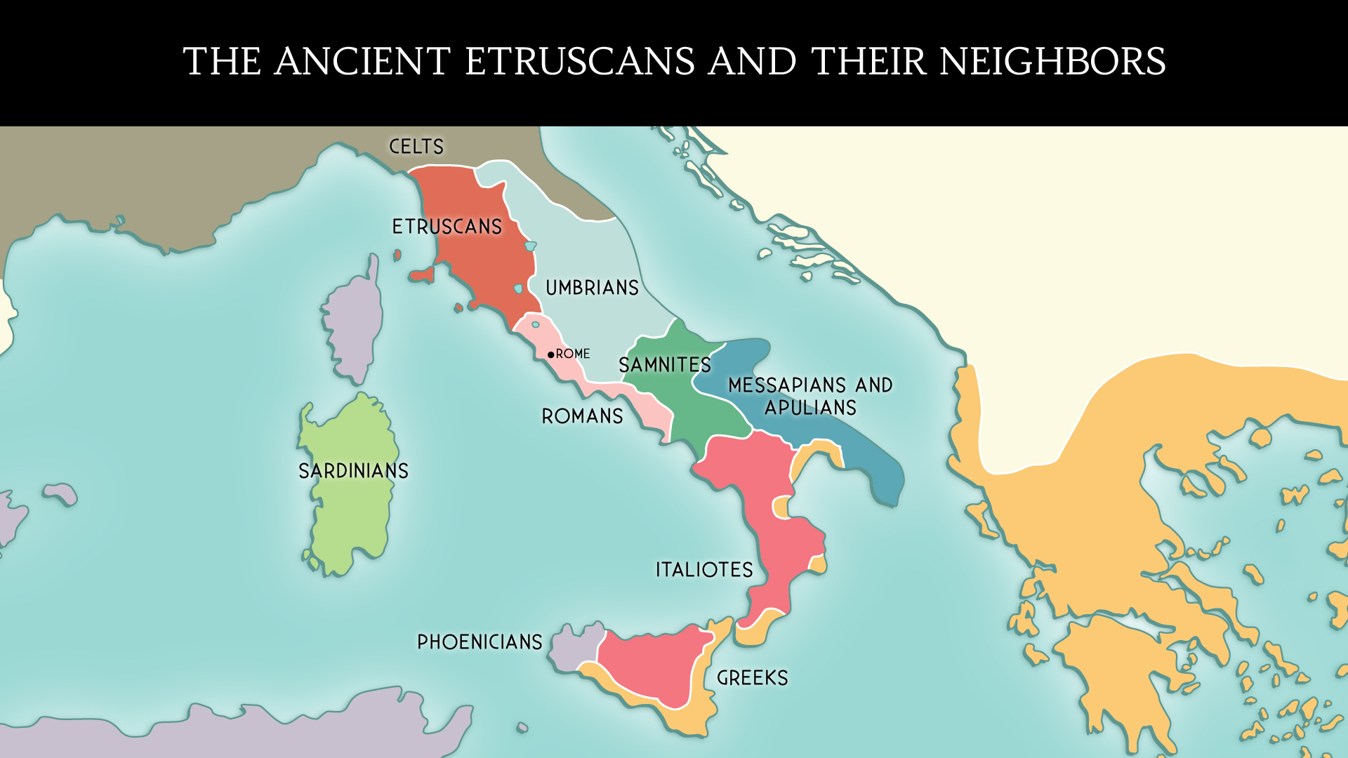 Map of Etruscans and their neighbours