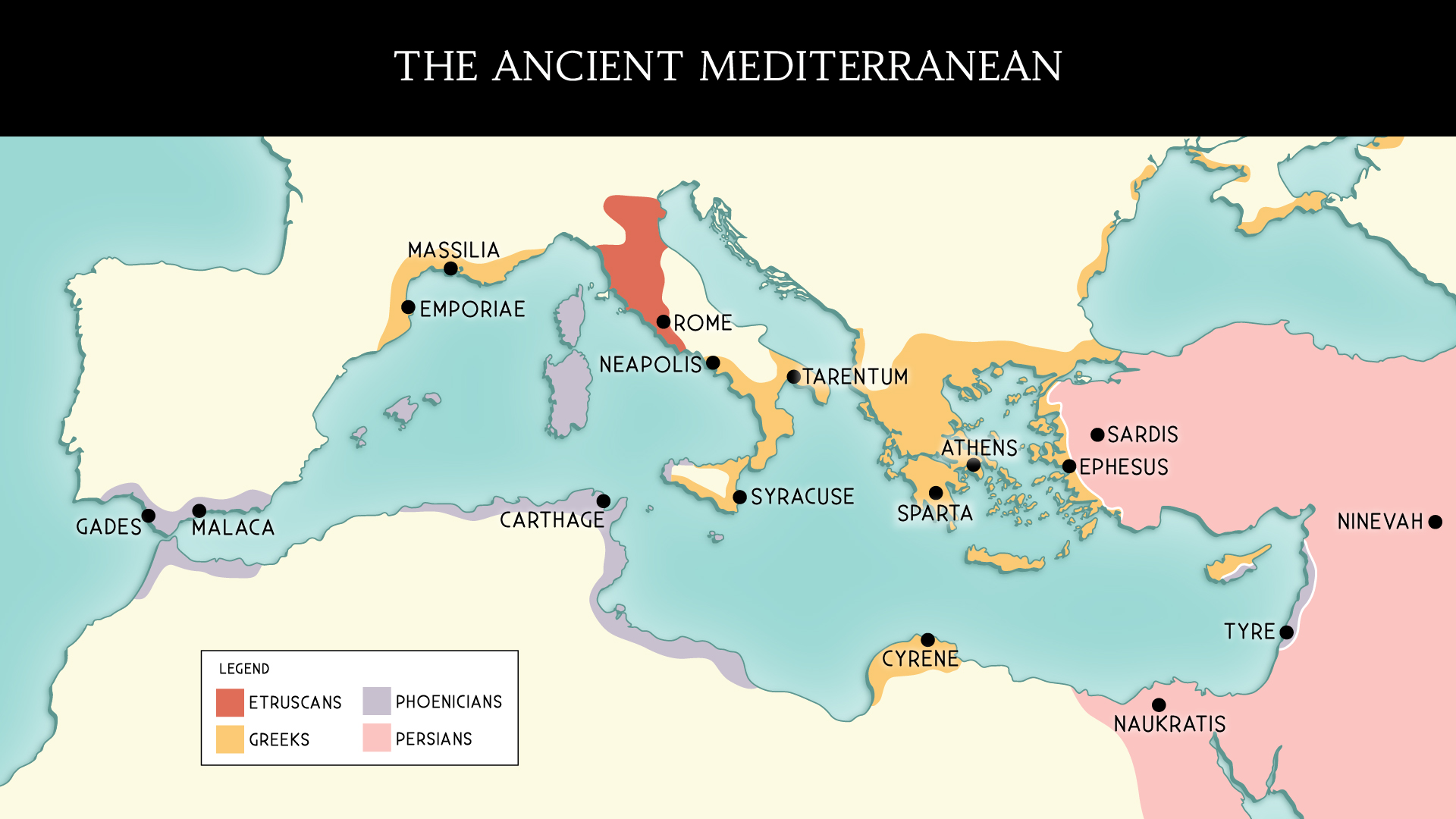 Map of the ancient mediterranean civilizations