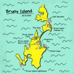 Bruny Island itinerary map