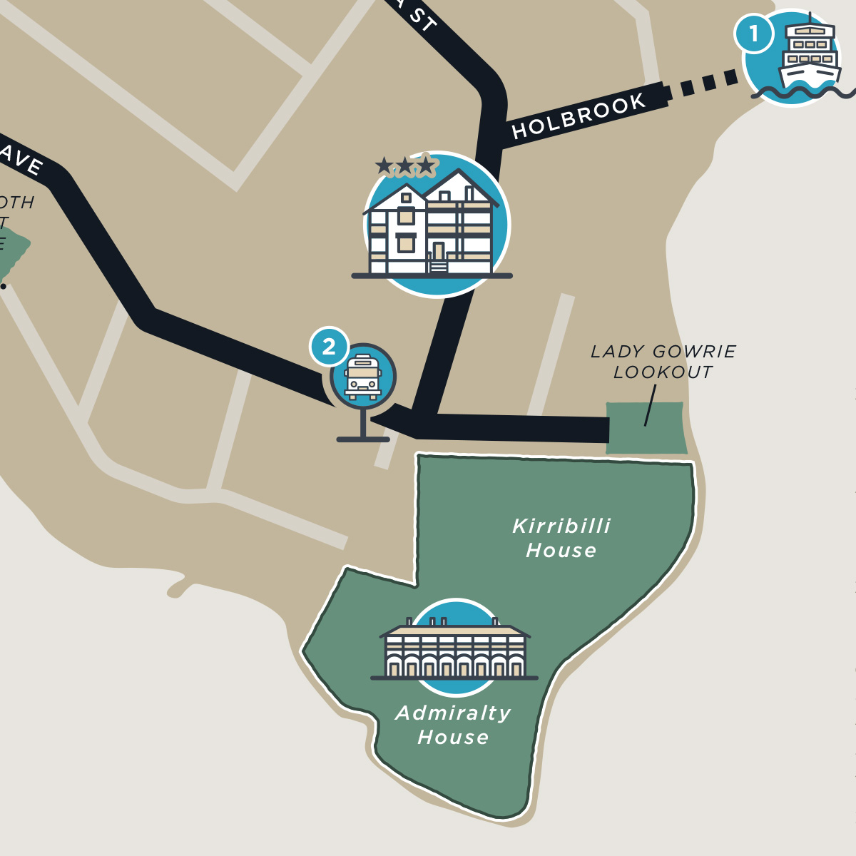 Kirribilli map preview