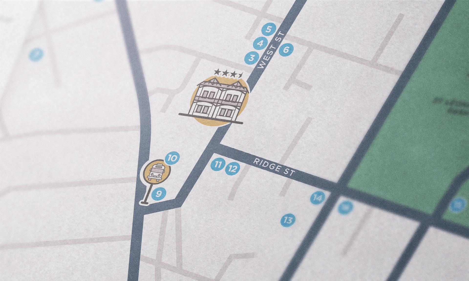 Dalziel Lodge map close-up