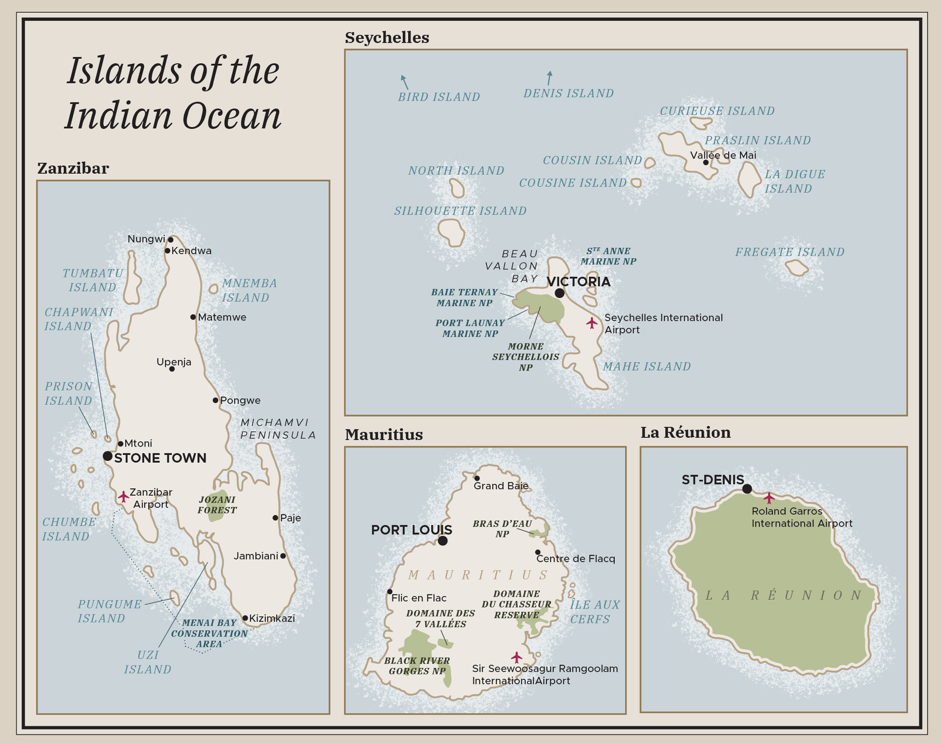 Focus on the Indian Ocean Islands inset
