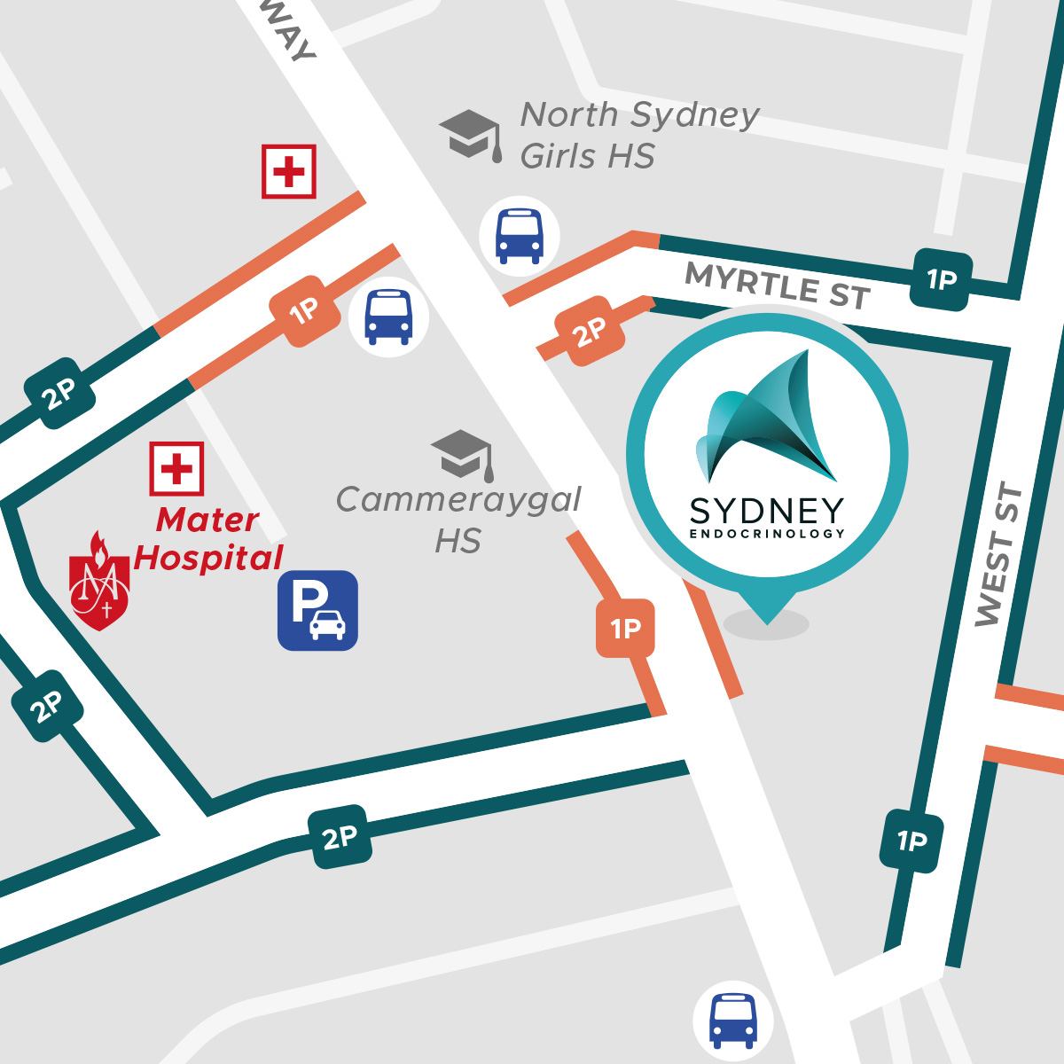 Sydney Endocrinology map preview