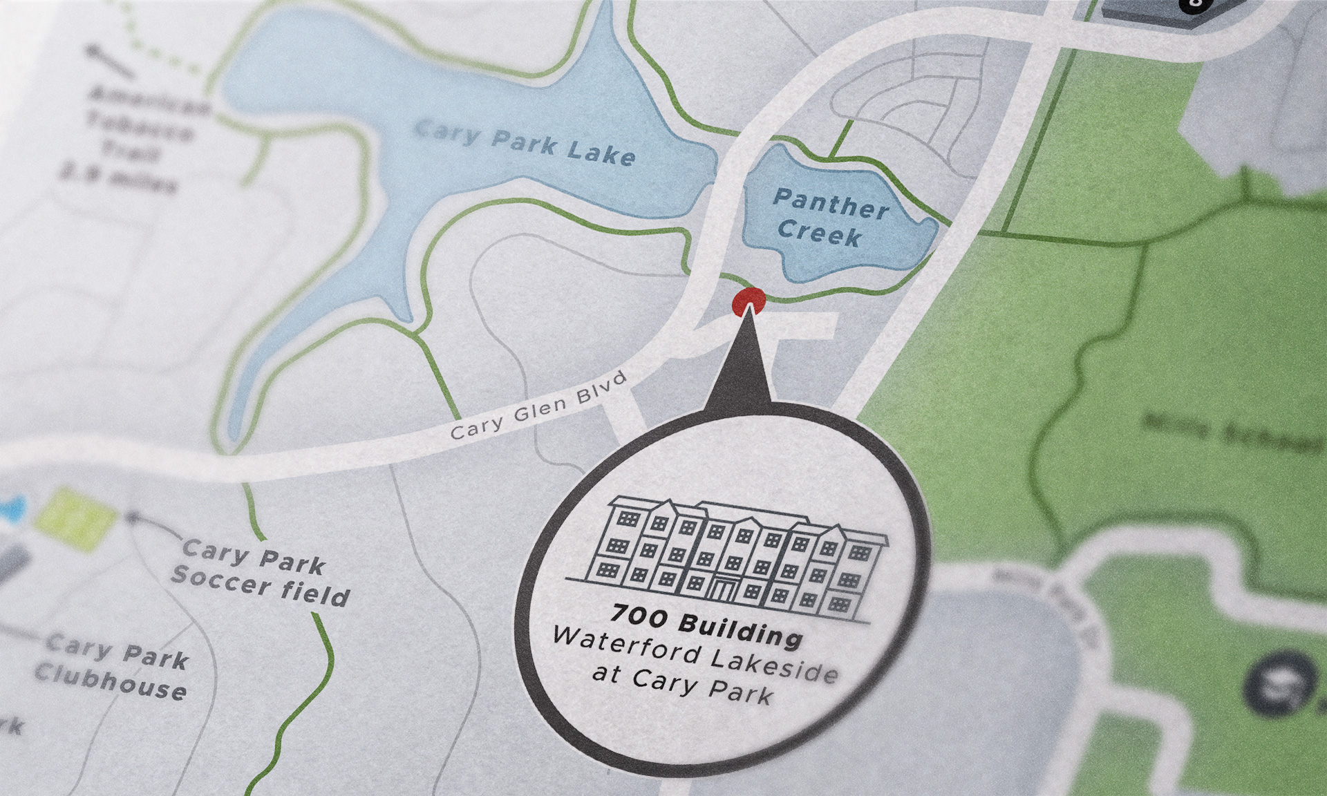 Waterford Lakeside map close-up