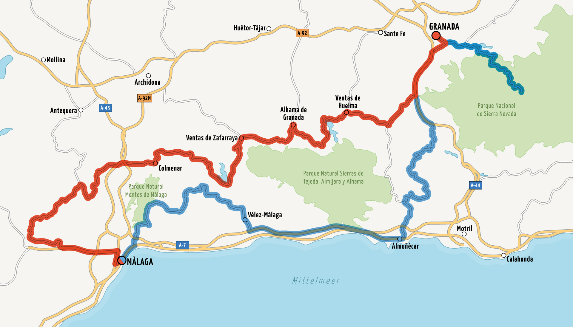 Itinerary around Malaga, Andalusia