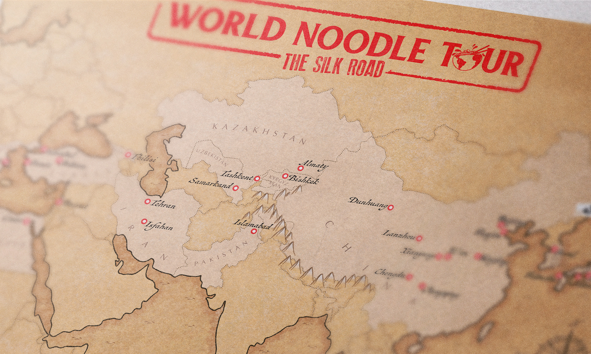 The Food Ranger's map close-up