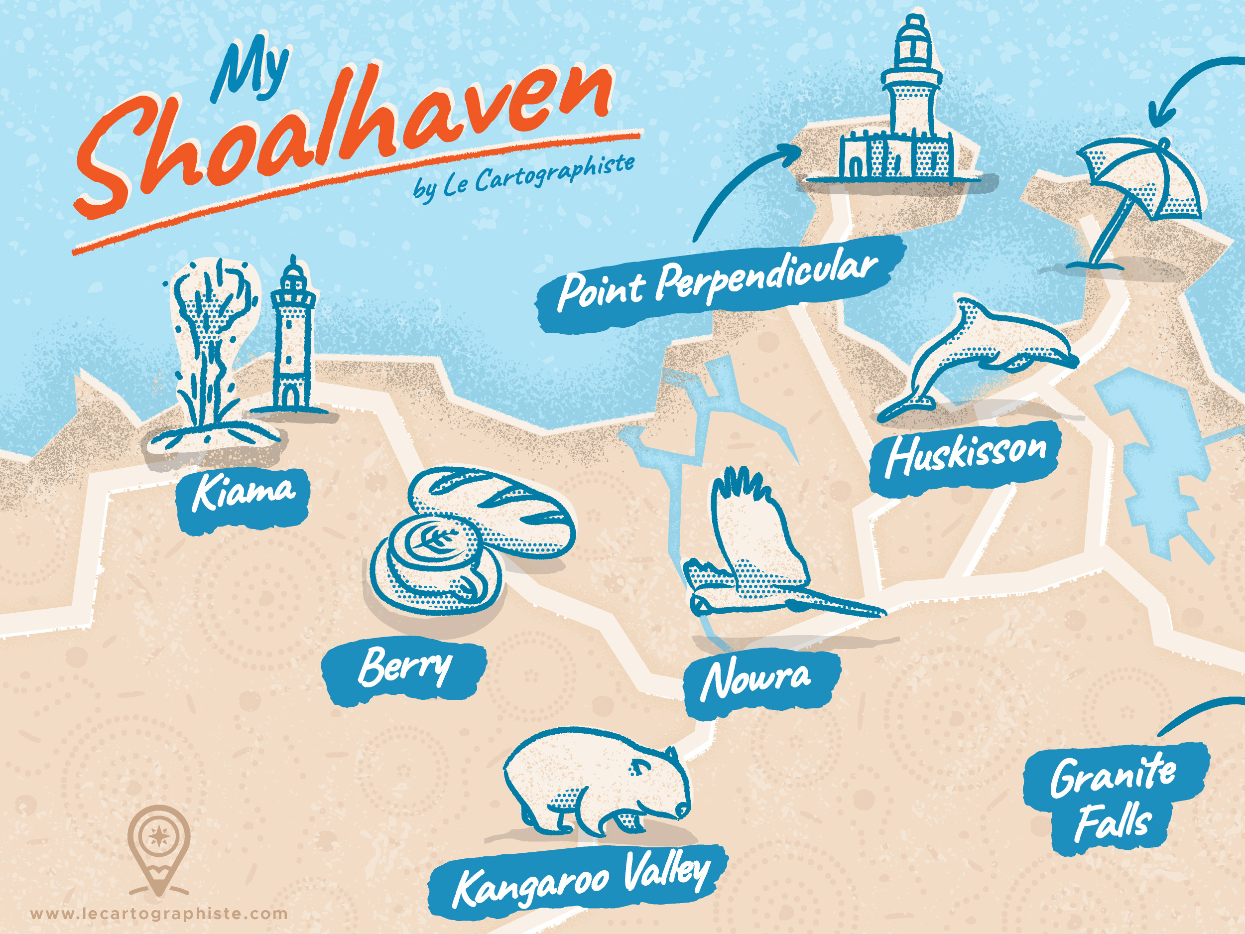 1st Close up of the Shoalhaven map