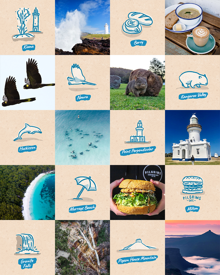 The remaining illustrations for my Shoalhaven map
