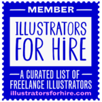 Illustrators For Hire Badge
