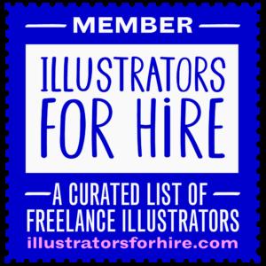Illustrators For Hire Badge