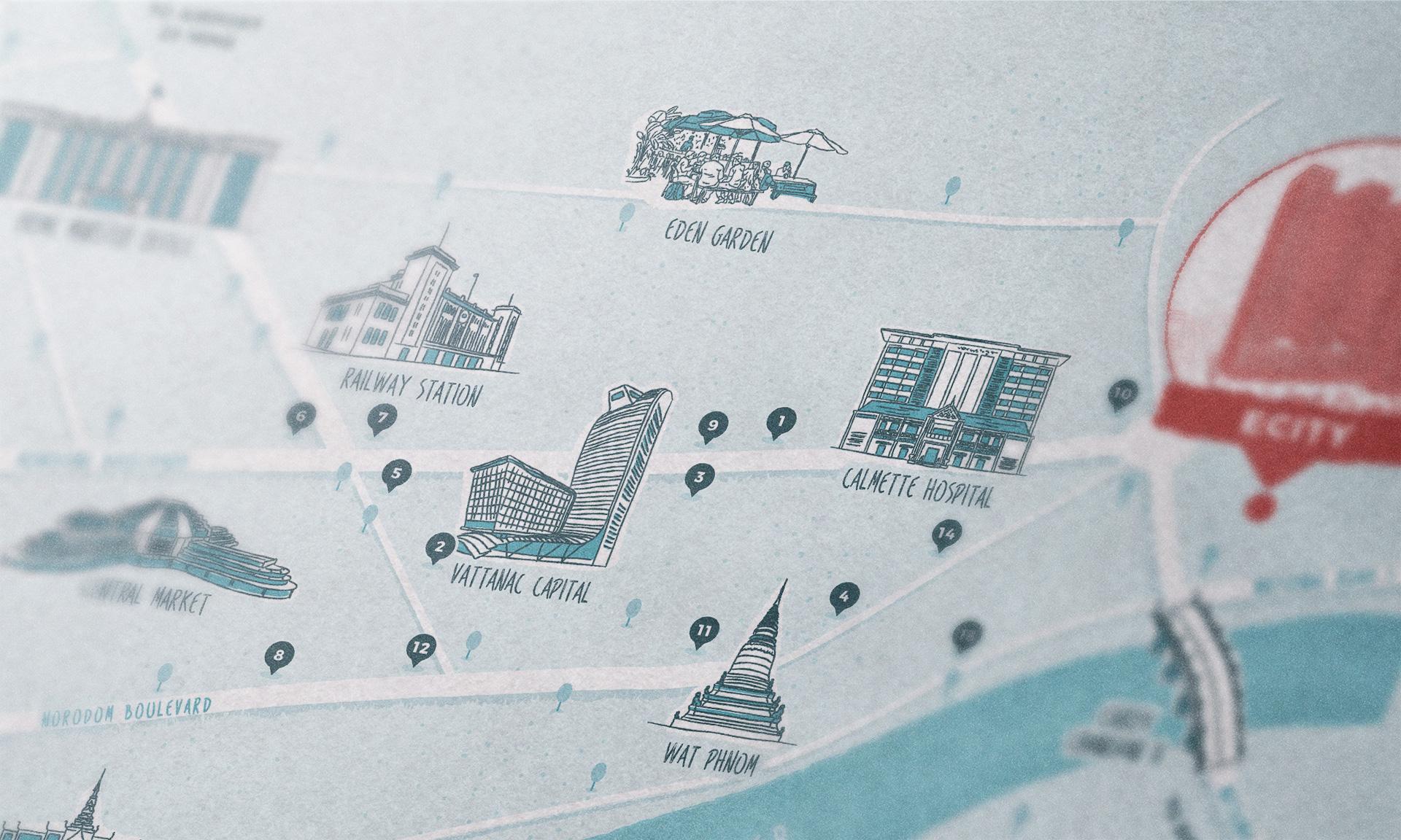 map close-up