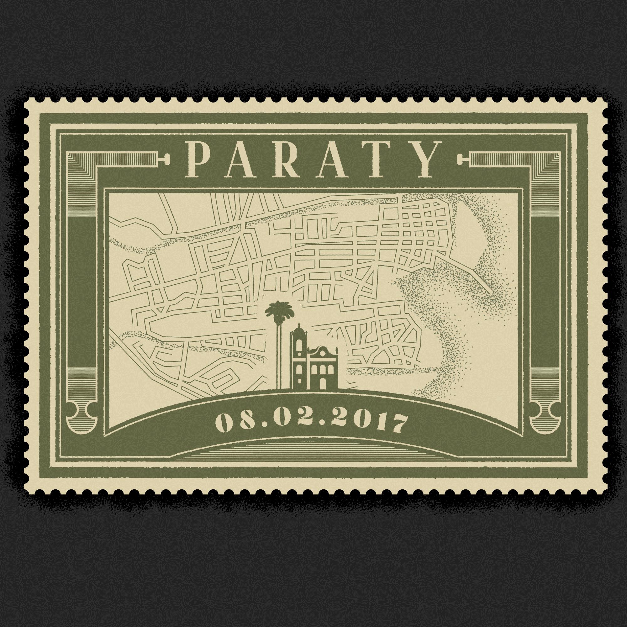 Vintage Paraty, Brazil stamp