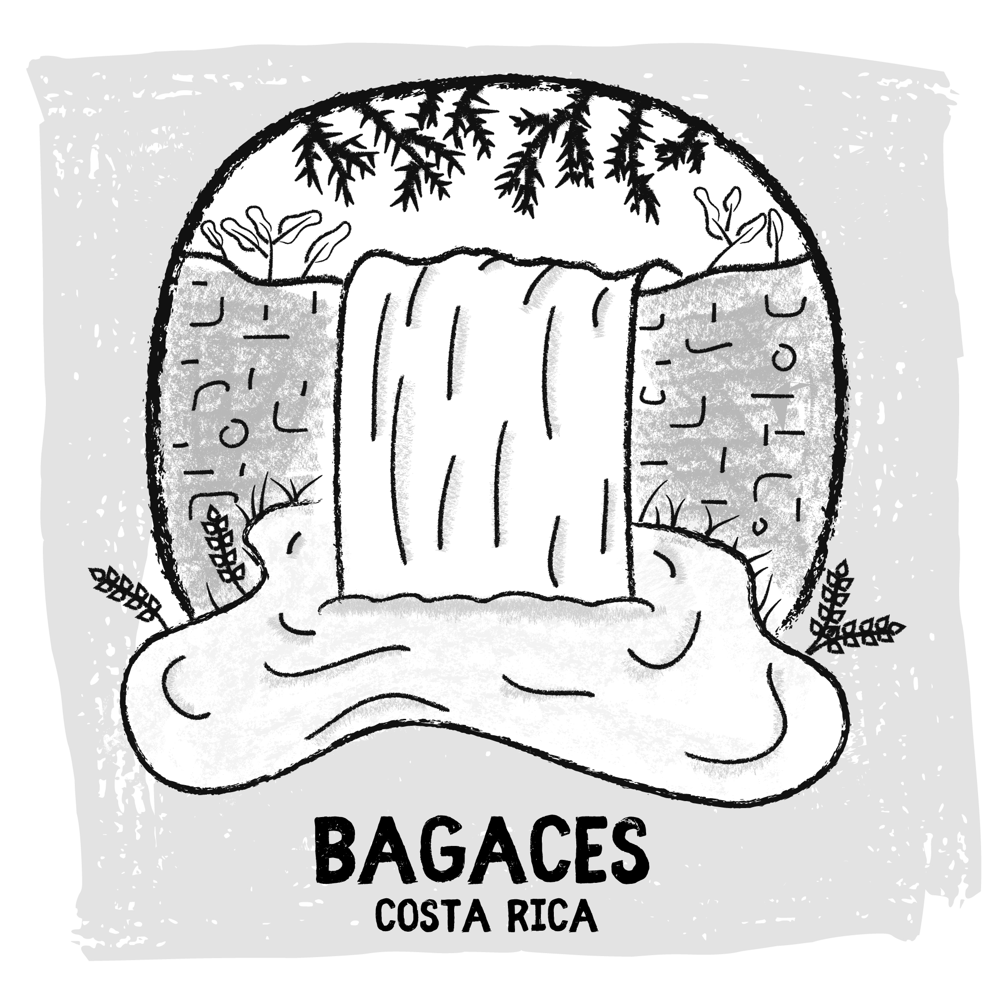 Bagaces, Costa Rica digital travel sketch