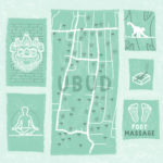 Ubud, travel illustration