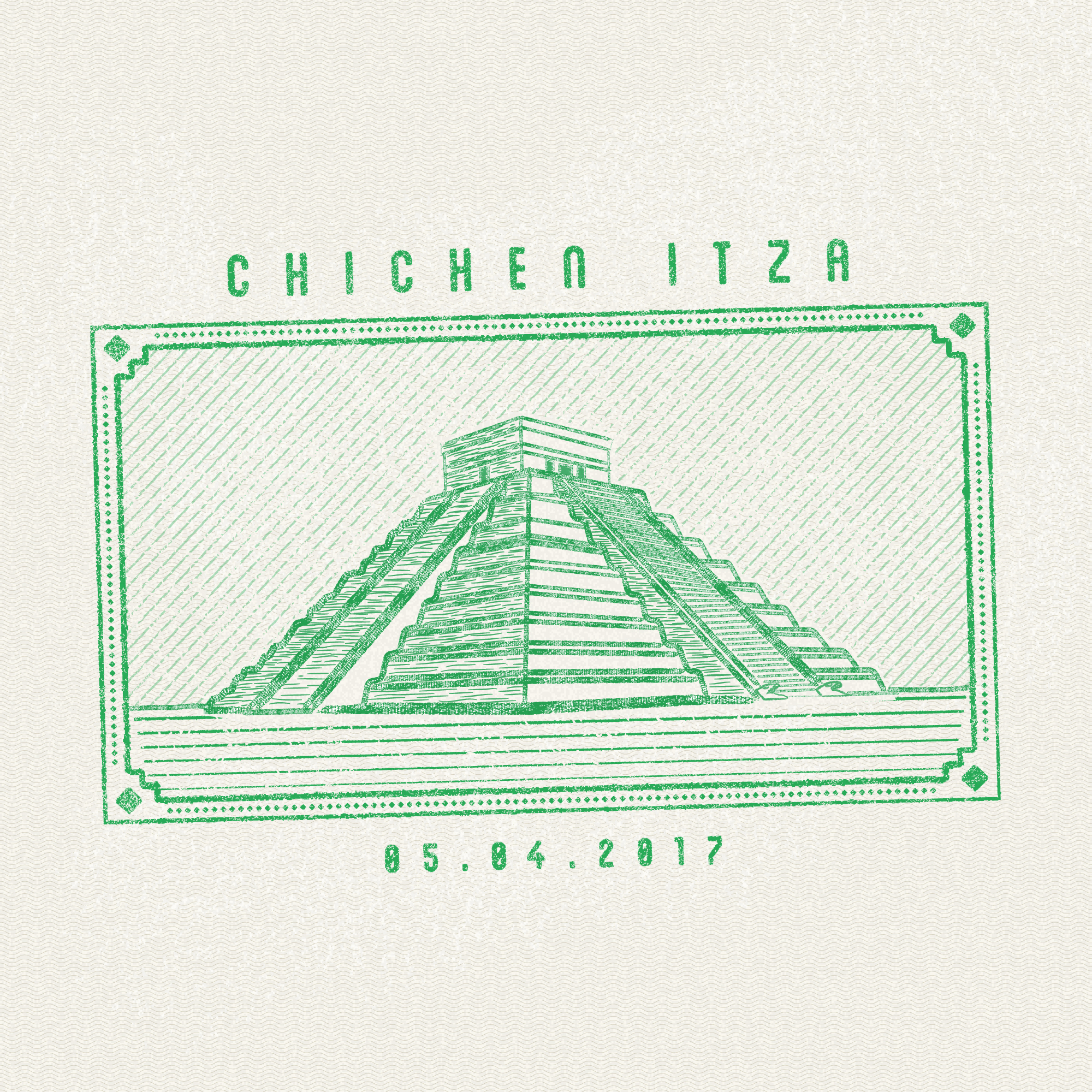 Chichen Itza, Mexico passport stamp