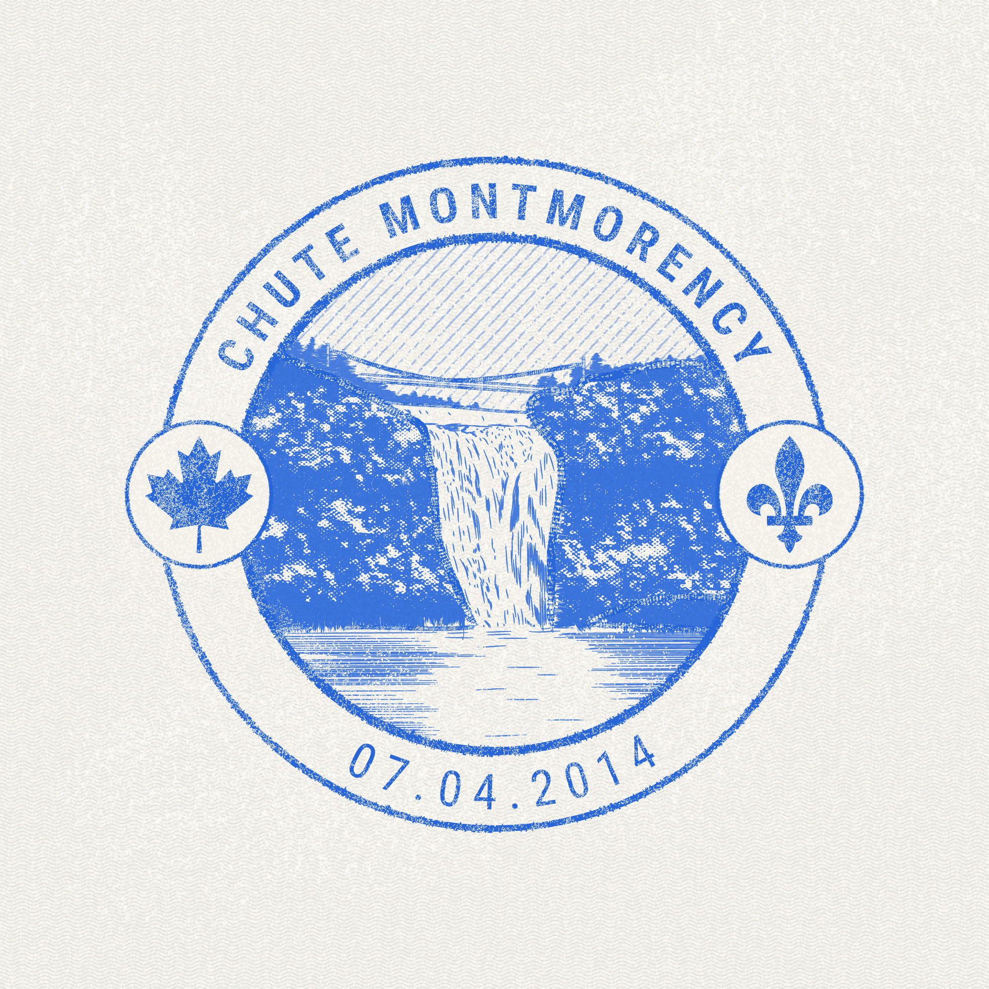 Chute Montmorency, Quebec passport stamp