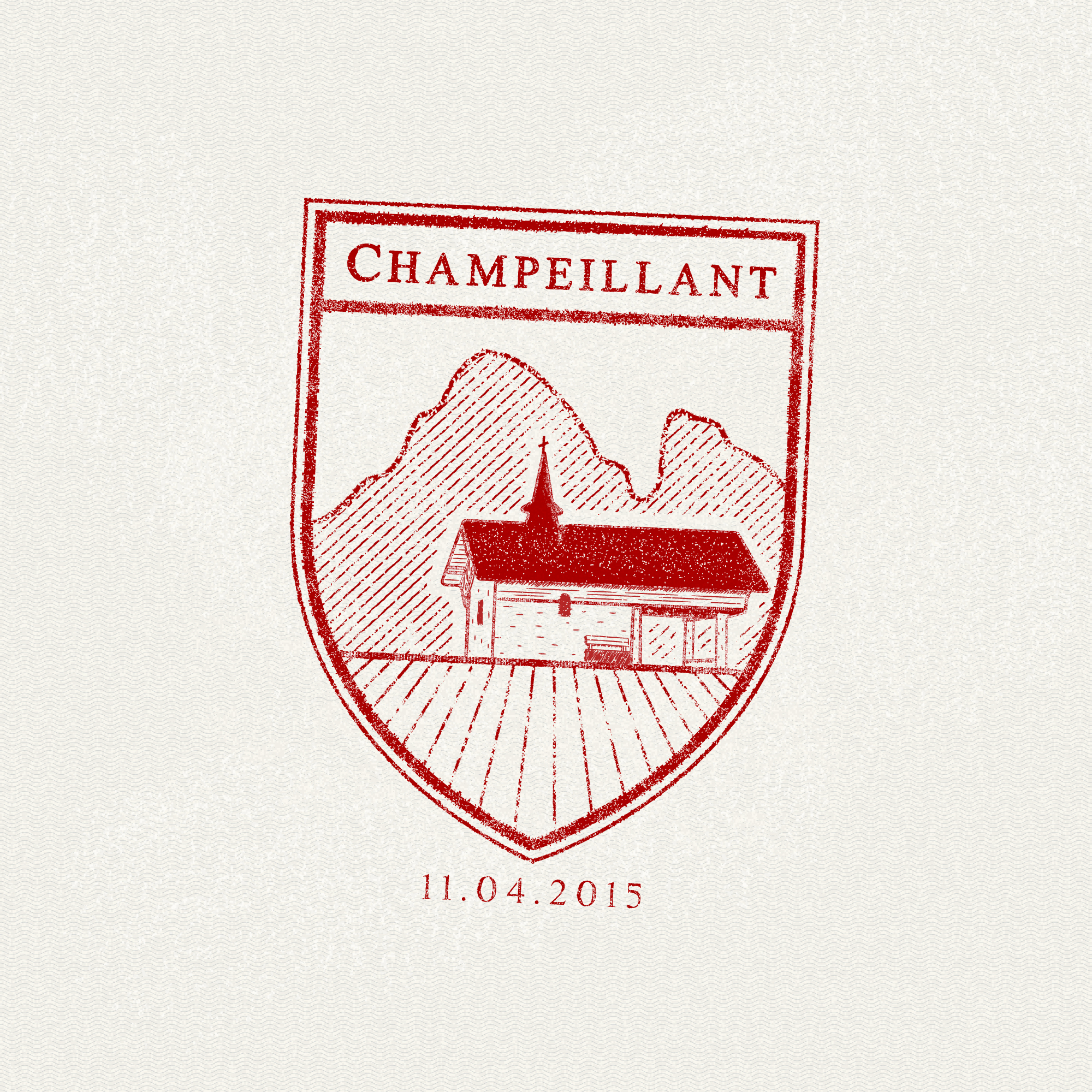 Champeillant, France passport stamp