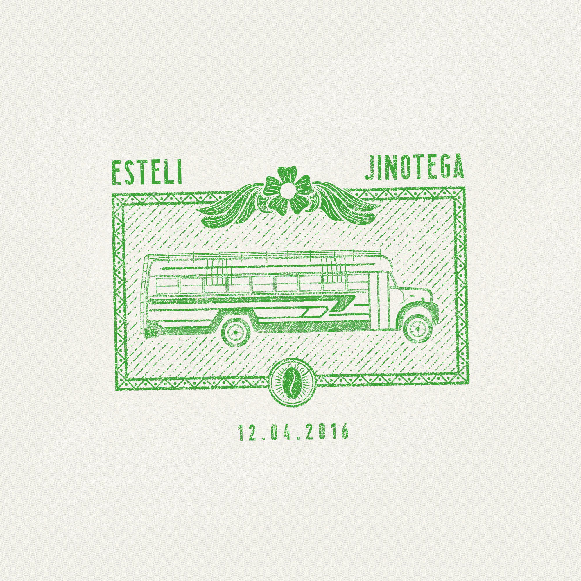 Nicaragua chicken bus passport stamp