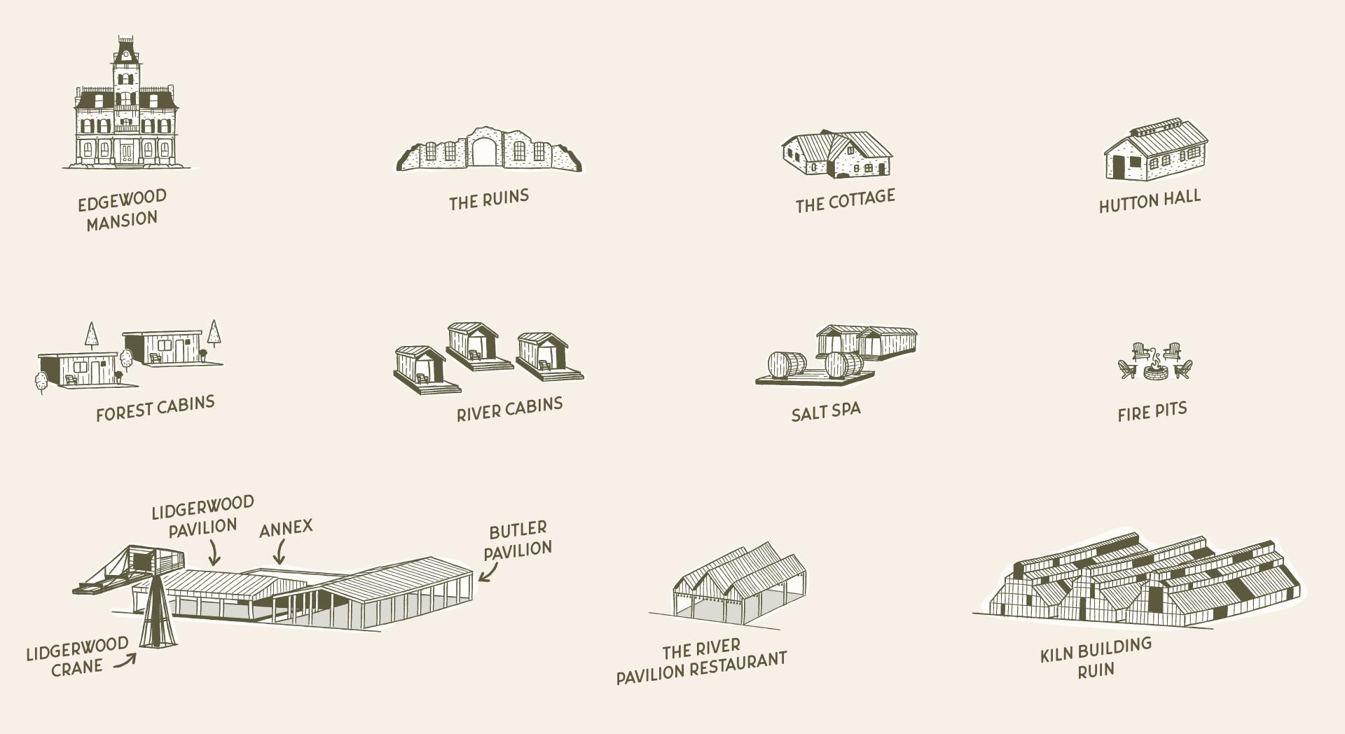 Illustrations for Hutton Brickyards