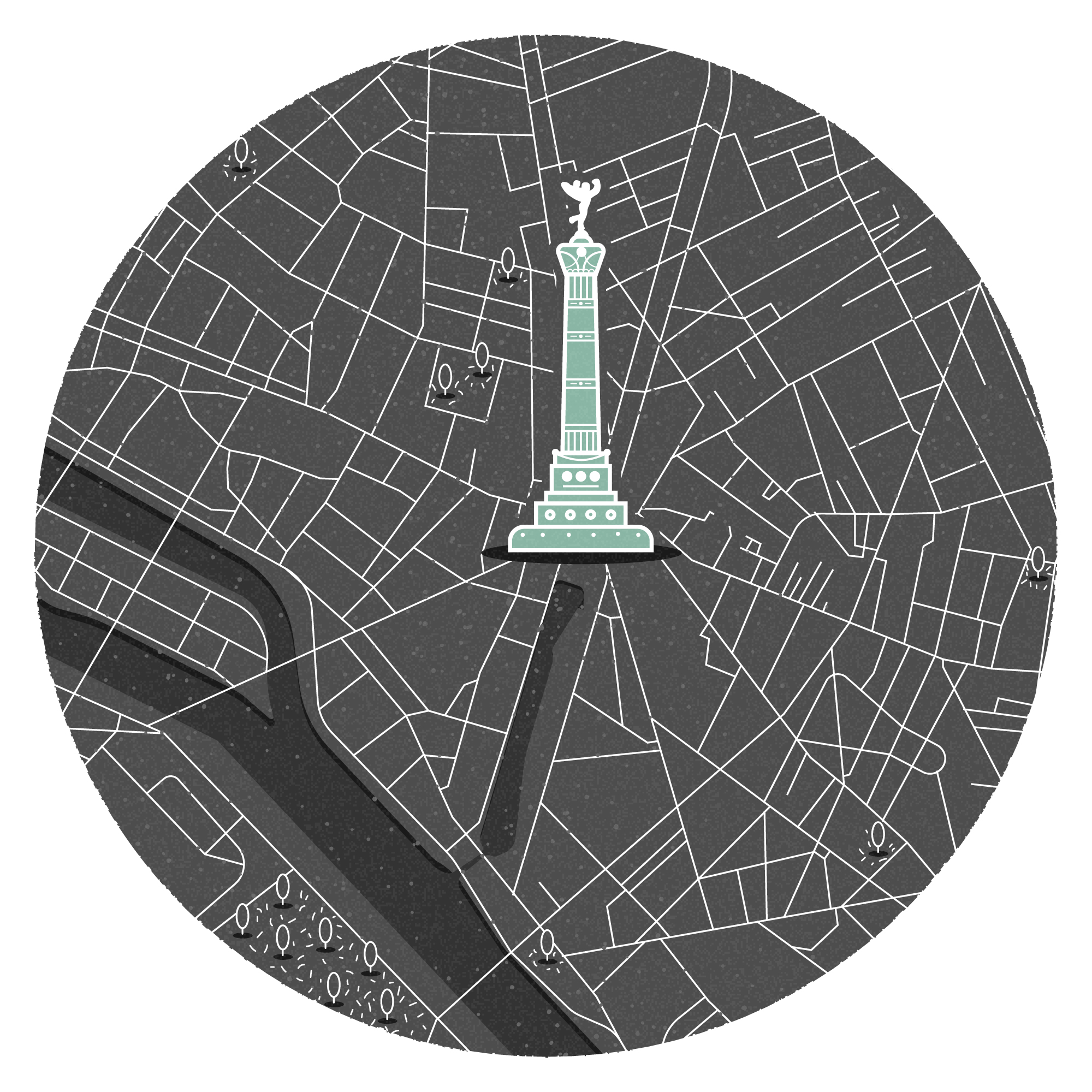 Mini map of Paris