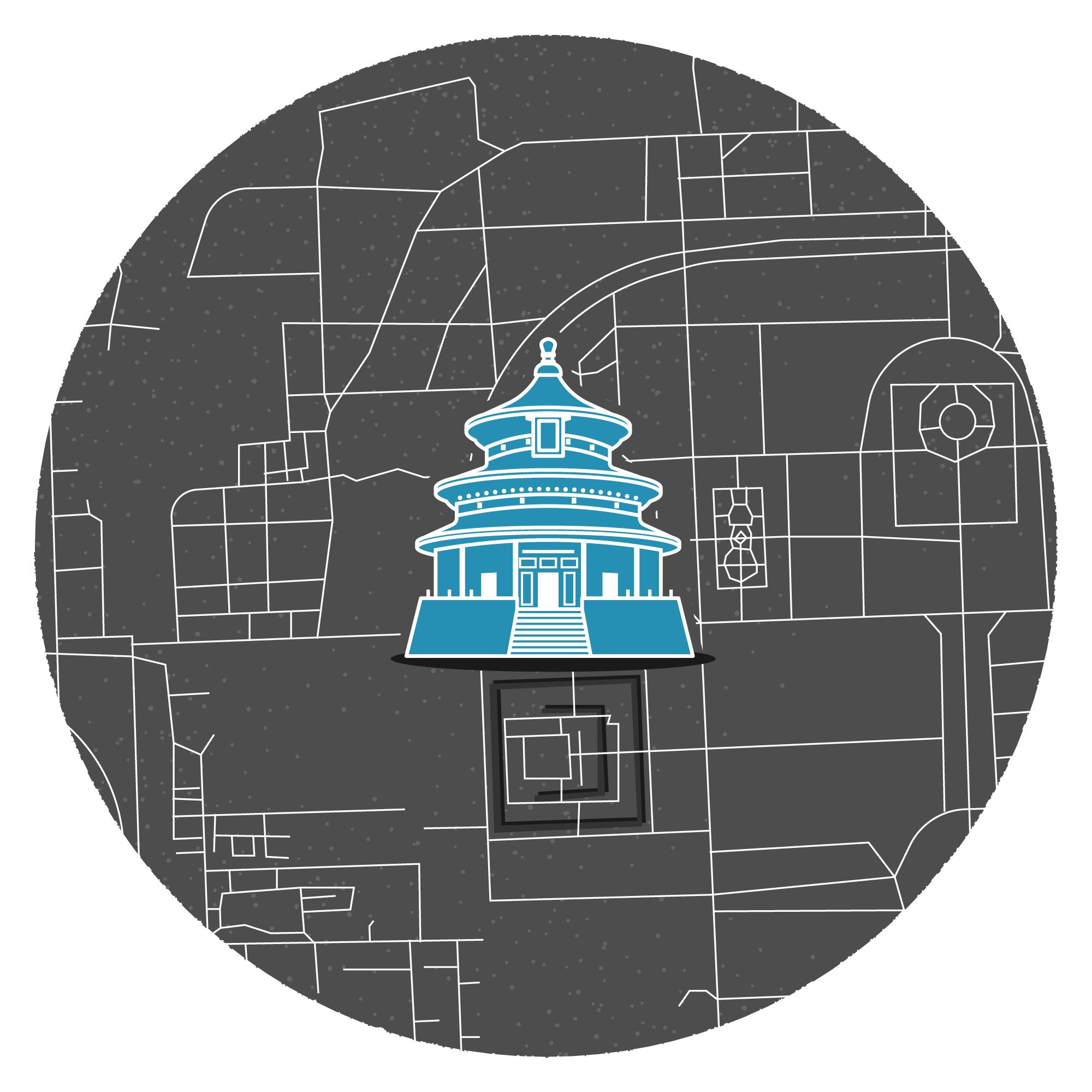 Mini illustrated map of Beijing