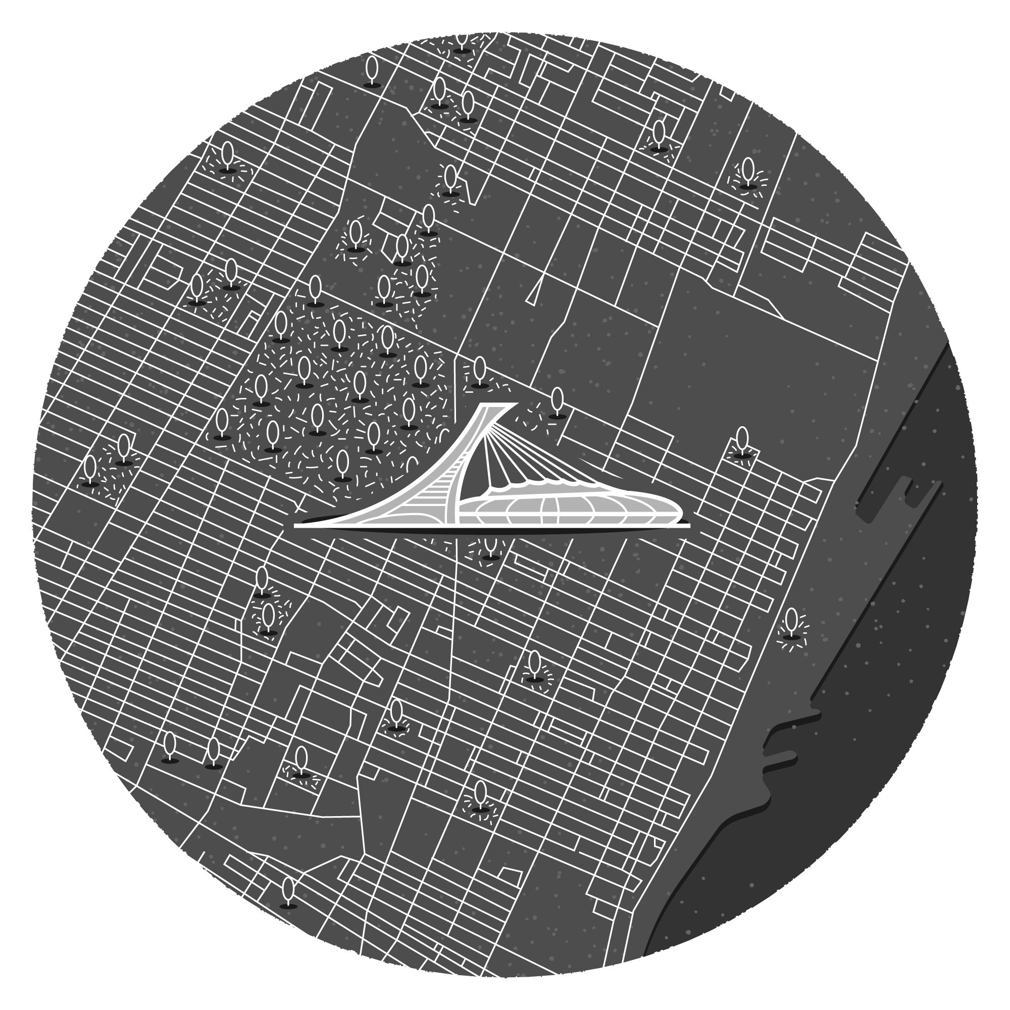 Mini illustrated map of Montreal