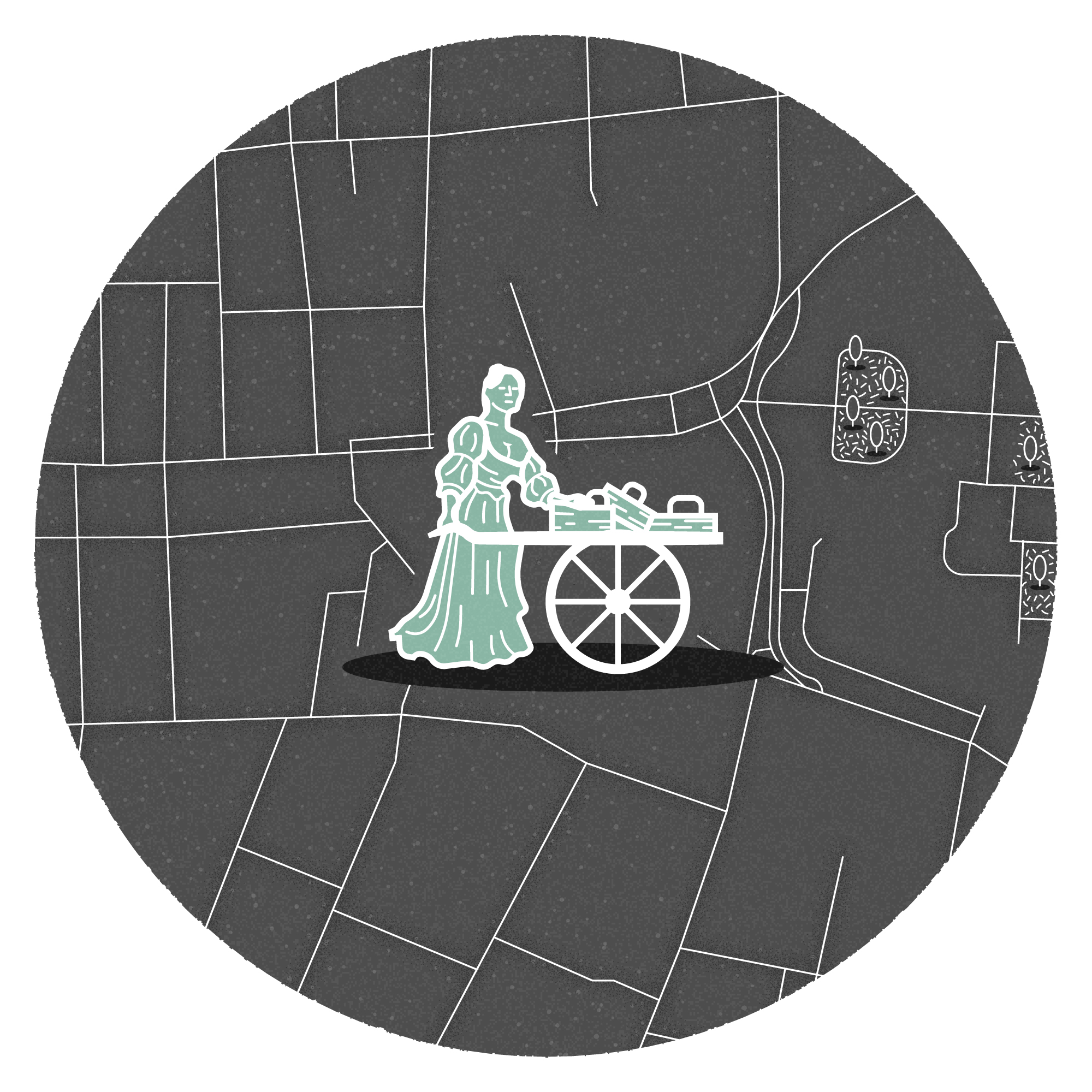 Mini illustrated map of Dublin