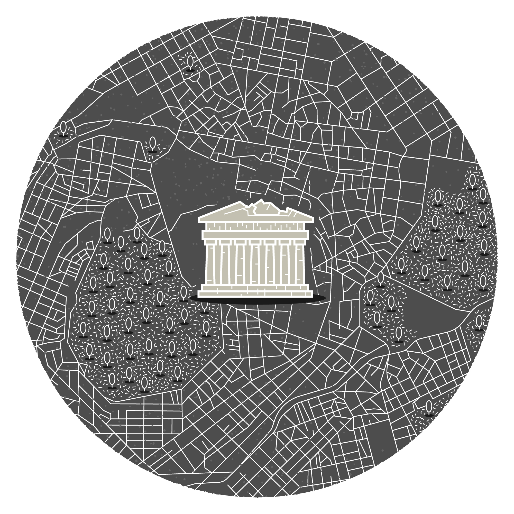 Mini illustrated map of Athens