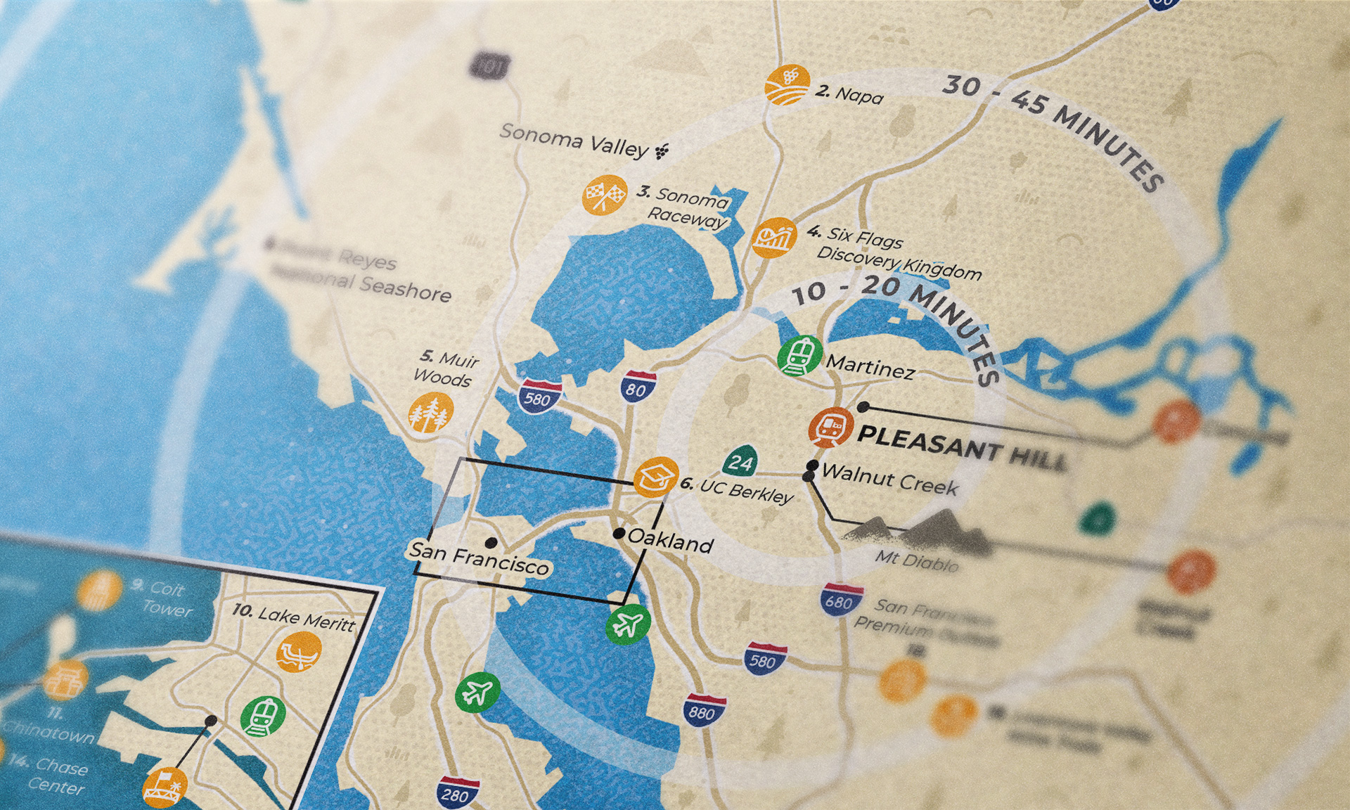 Pleasant hill map close-up