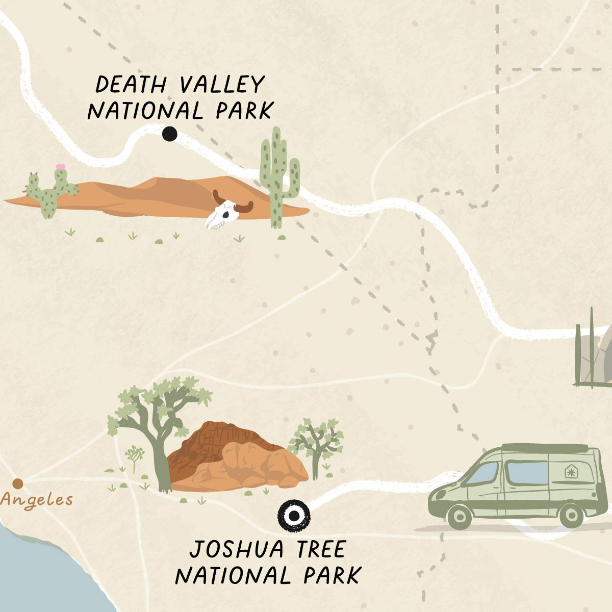 CA to AZ road trip thumbnail